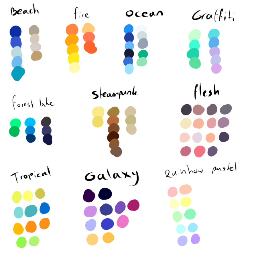 Free To Use Color Pallettes By Shadowinkadopts On Deviantart