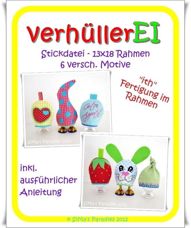 verhüllerEI ITH - 13 x 18 | Stickdateien und EBOOKS von SiMa\'s ...