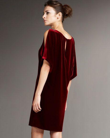 b3a708ecc9 Red Velvet Dress