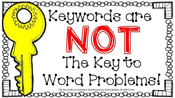 A blog entry outlining the problem types for K-2 along with the ...
