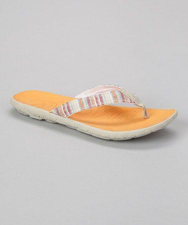 39ed2ffa1a9a Love this Sand   Orange Stripe Flipper Flip-Flop - Women by Cushe on ...