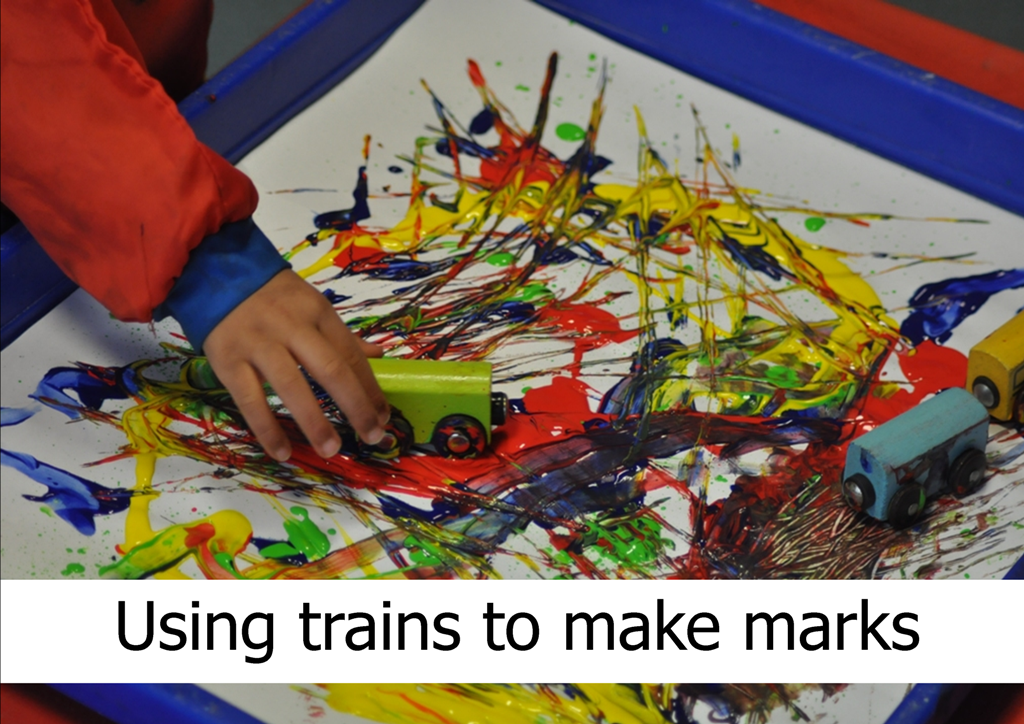 Mark making activities for younger children - Early Years Careers | Train activities, Mark making, Early literacy activities