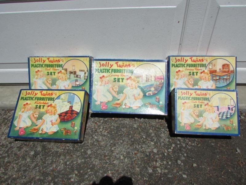 Vintage Renwal Jolly Twins Plastic Dollhouse Furniture