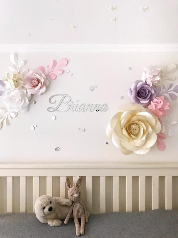 Personalized Nursery Paper Flower Nursery Wall Decor Paper