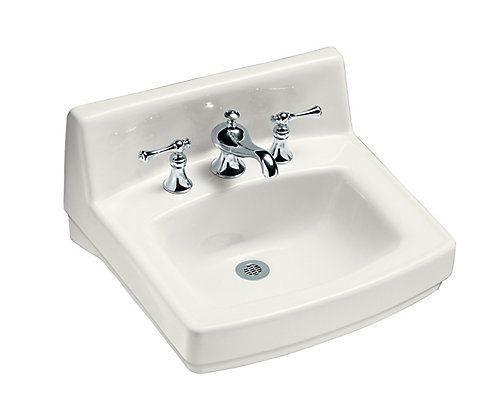 Greenwich Wall Mount Bathroom Sink In White Mounted