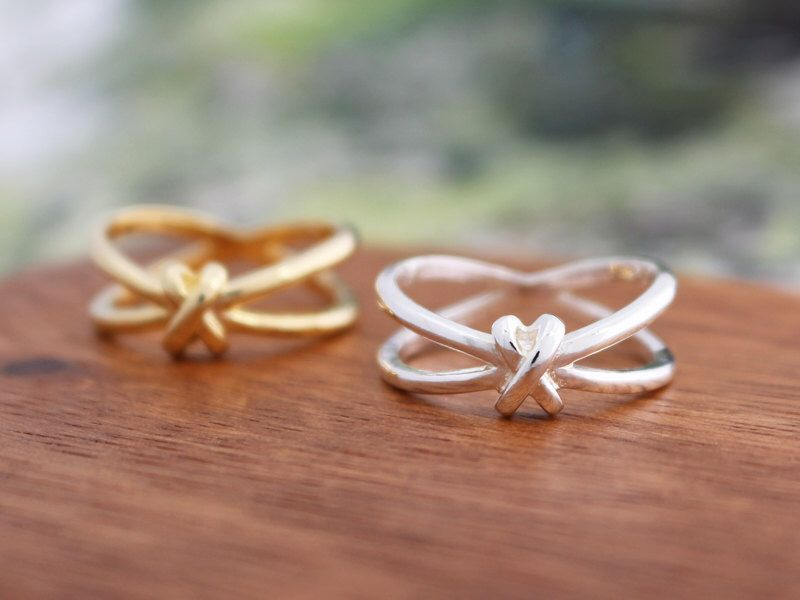 Handmade X Knot Ring by SilverStellaJewel on Etsy https://www.etsy.com/listing/450036222/handmade-x-knot-ring