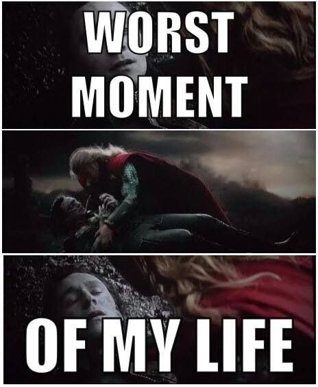 I cried.. But I knew they'd never actually kill off Loki. At least not yet anyway. But I still cried.