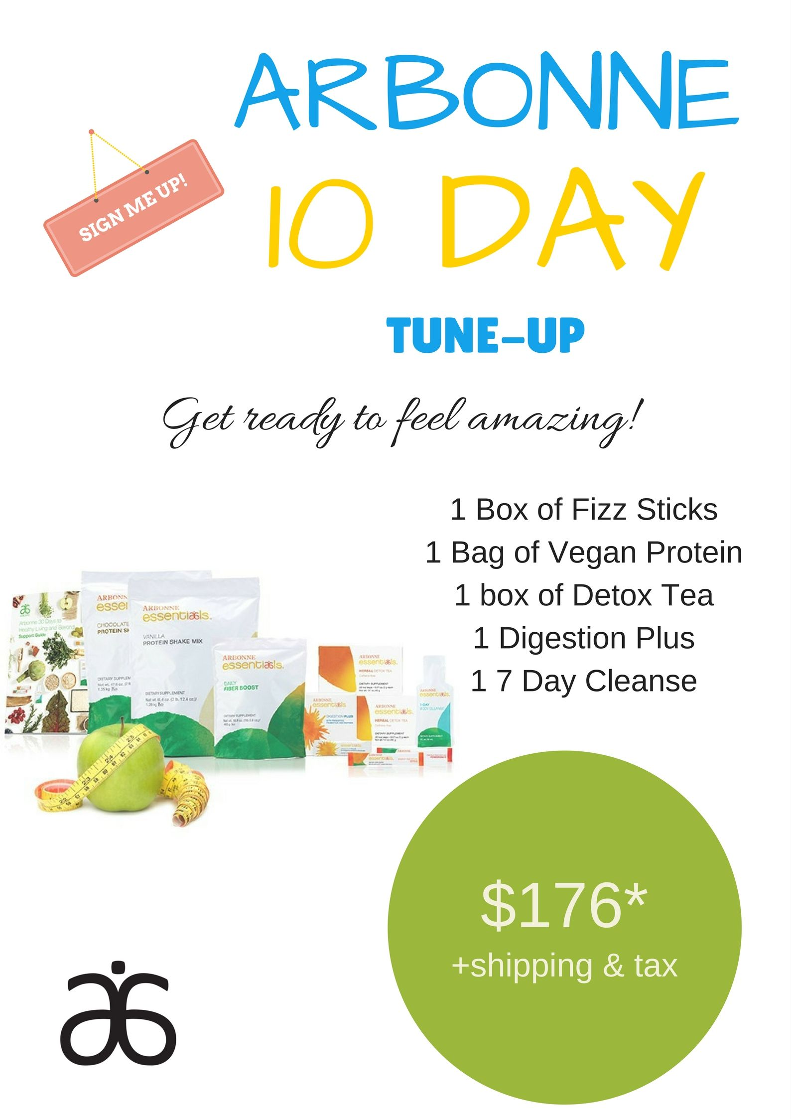 10 Day Tune-Up, for those who do not want to commit to the 30 Day Detox  Challenge #arbonne ID#22815960 kristenfrank.arbonne.com