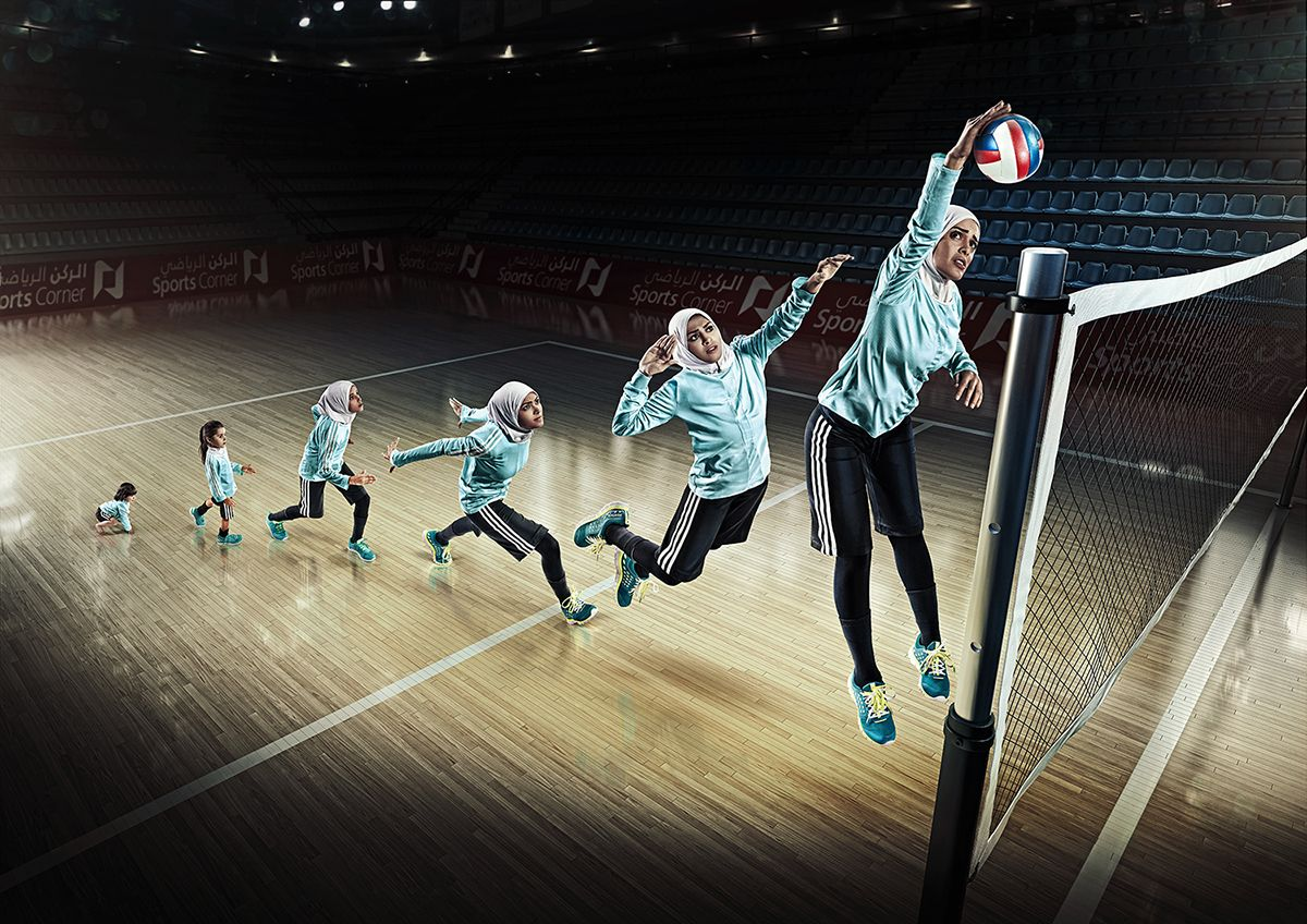 With You Since 1979 Campaign On Behance Volleyball Photography Volleyball Poses Sports Photograph