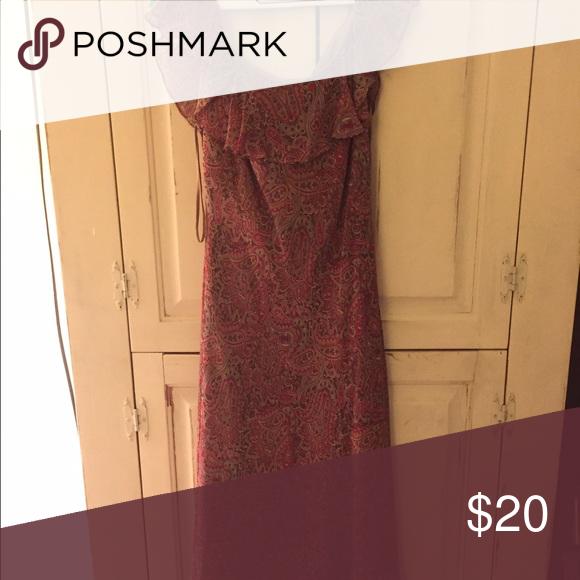 Dress Off the sleeve red paisley dress Lauren Ralph Lauren Dresses