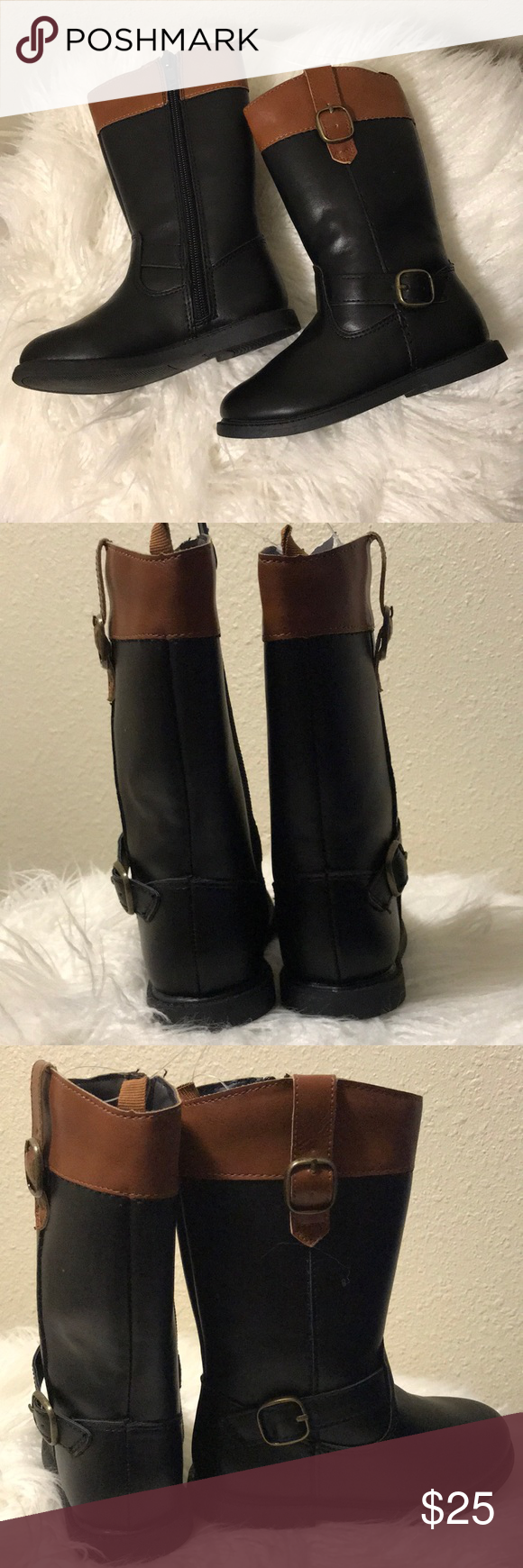 ee689340d97d Carters black and brown boots size 8 girls New. Now box. Carters boots for  girls with inside zipper and 2 buckles as accents. See my other listings  Carter s ...