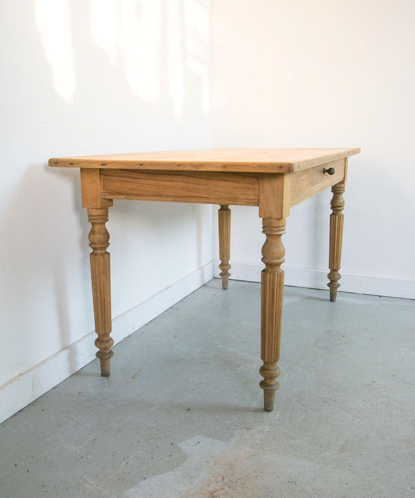 Small Pine Table Or Desk Vintage France Design Pine Table Desk