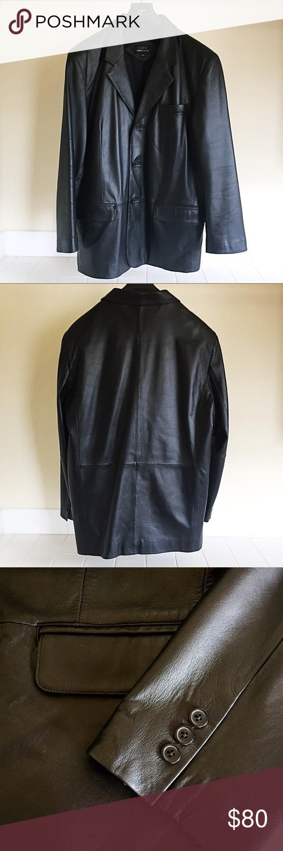 City Jones New York Leather Jacket Leather Jacket Classy Coat Jones New York