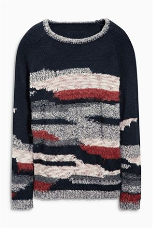 Buy Fluffy Patch Sweater from the Next UK online shop