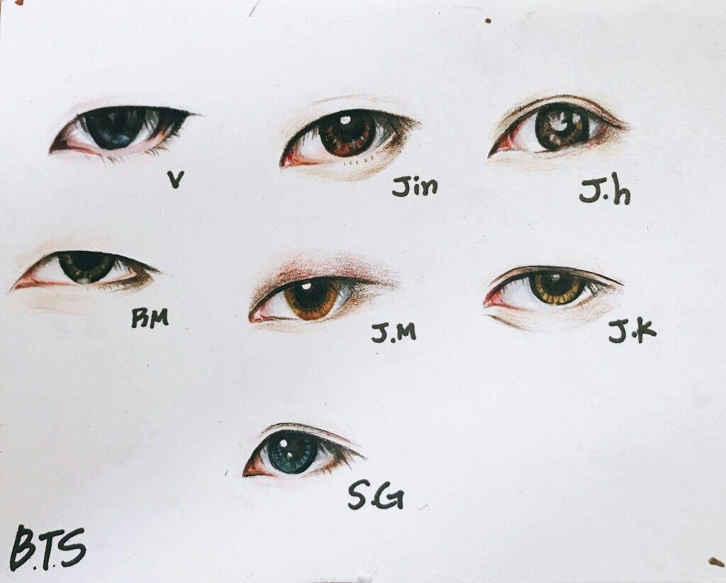 Eye Reference For Asian People Bts Drawings Bts Eyes Eye Sketch