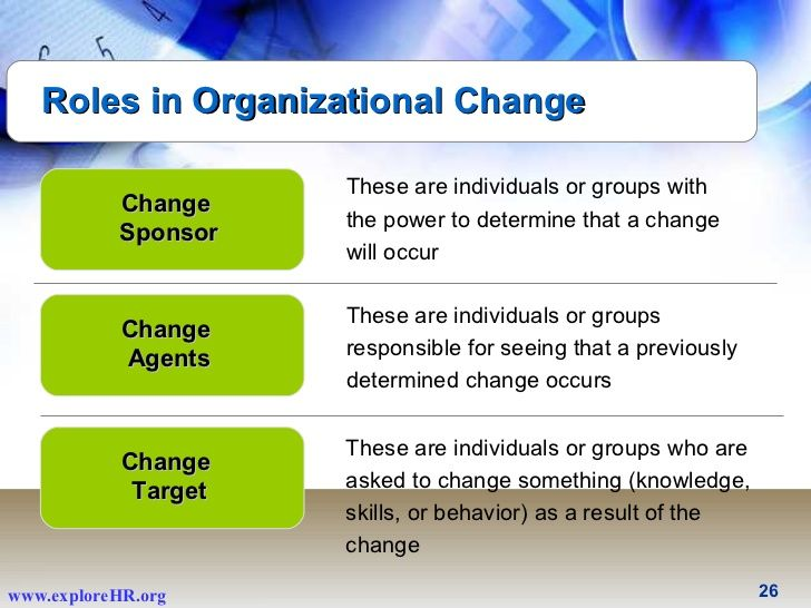 Roles in Organizational Change Change Sponsor Change Agents Change - change agent sample resume