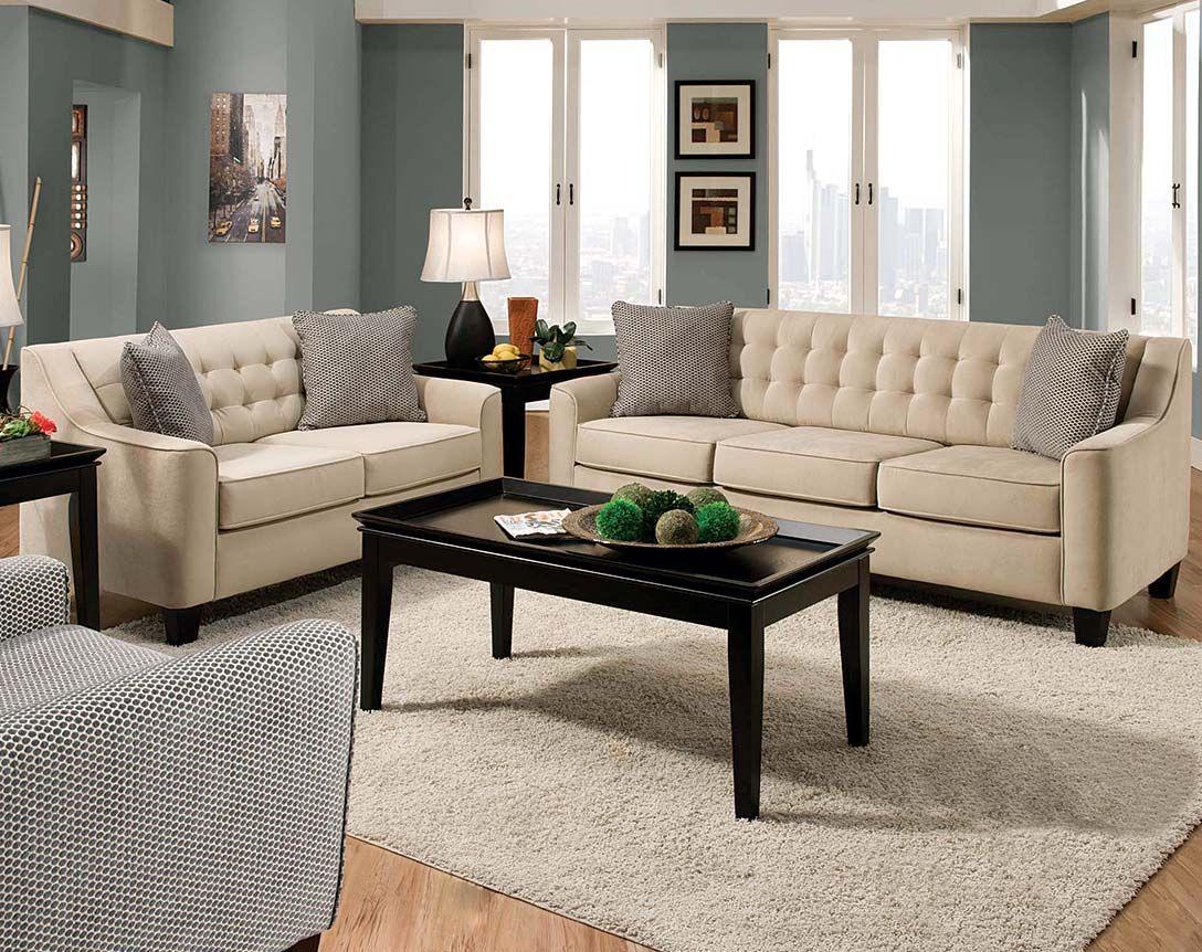 Tufted Sofa Loveseat Combo Muebles
