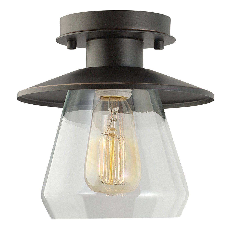 19 globe electric vintage semiflush mount ceiling light oil rubbed bronze finish