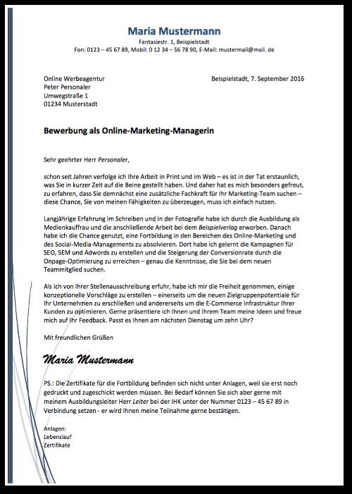 Bewerbungsvorlagen: Über 40 Gratis-Muster | Fortbildung, Anschreiben ...