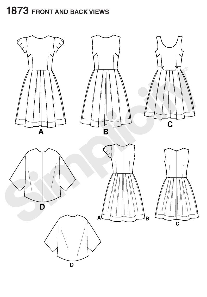 Simplicity Creative Group - Misses\' & Miss Petite Dresses Cynthia ...