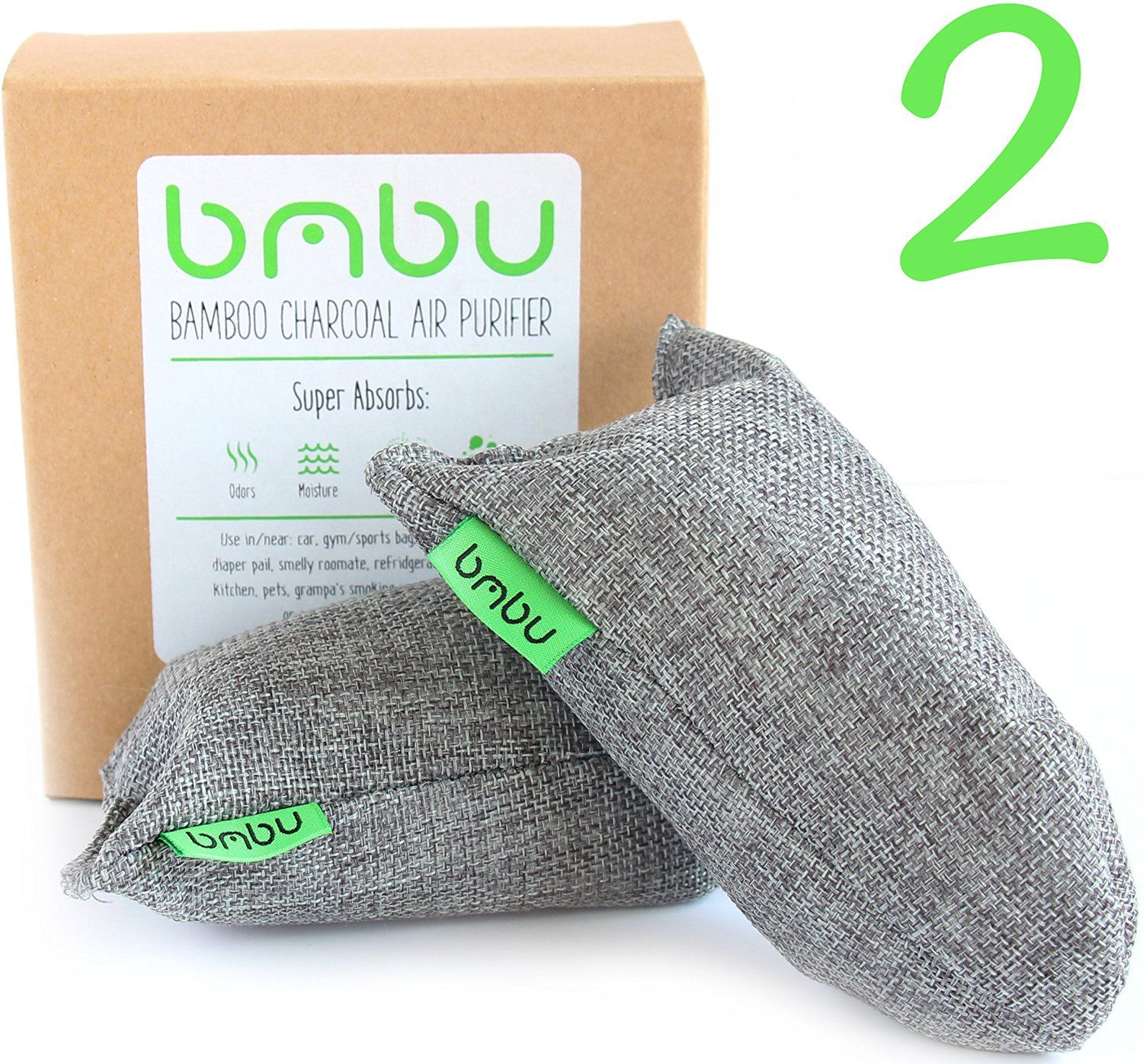 Bamboo Charcoal Air Purifiers (100g X 2 Pack