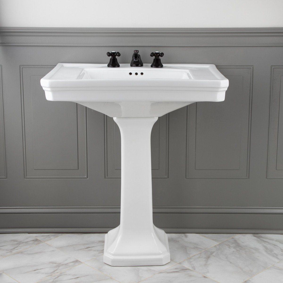 30 Inch Pedestal Sink In 2020 Pedestal Sink Bathroom Pedestal