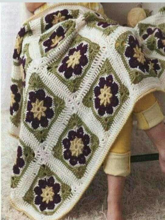 Pin de Tilcia Martés en cuadros y manteles a crochet | Pinterest ...