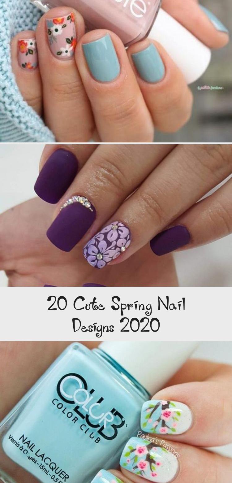 20 Cute Spring Nail Designs 2020 Cute Spring Nails Rose Nails