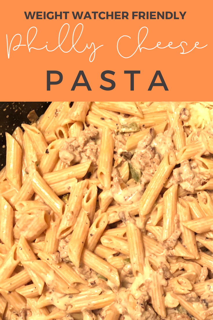 Philly Cheesesteak Pasta The perfect combination between a pasta dish and a cheesesteak! Although it's a little higher in points, this meal is totally worth it! Budget friendly and a one pot meal!
