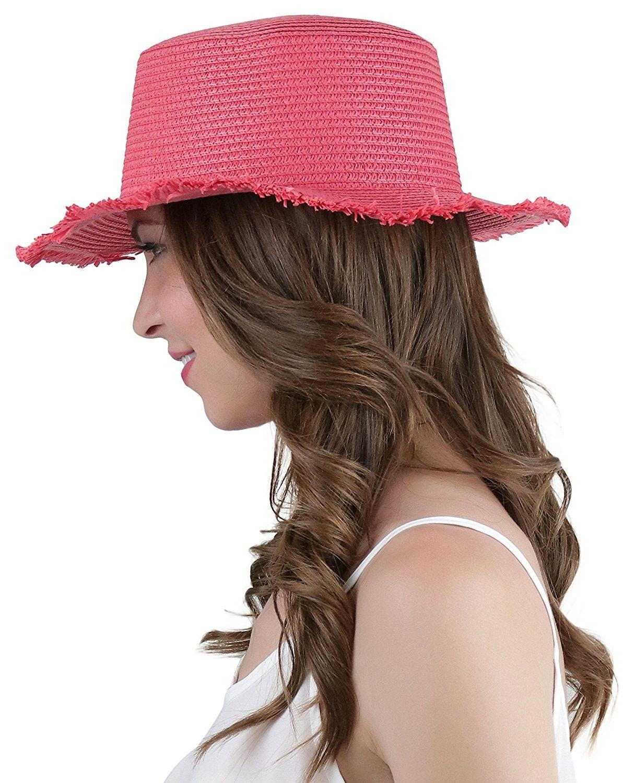 fb3262ae Women's Flaky Woven Straw Rim Summer Hat - Red - CX184SRL4HG - Hats & Caps, Women's  Hats & Caps, Sun Hats #hats #caps #style #women #fashion #outfits #Sun ...