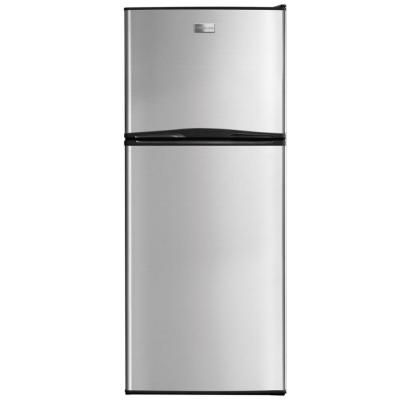 539 00 Frigidaire 11 5 Cu Ft Top Freezer Refrigerator In Stainless Steel Top Freezer Refrigerator Stainless Steel Refrigerator Apartment Size Refrigerator