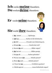 Possessivpronomen | Allemand | Pinterest | Possessivpronomen ...