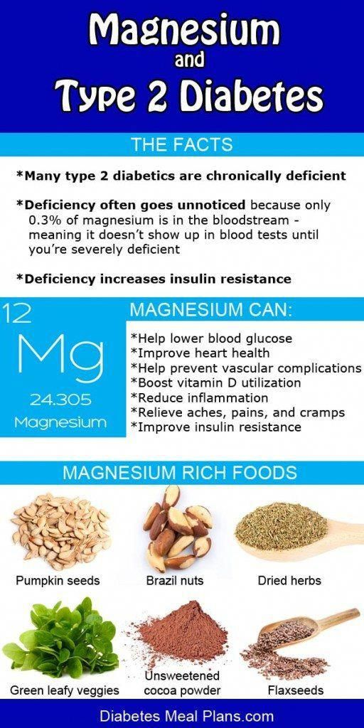 Magnesium and Diabetes #diabetesmenu