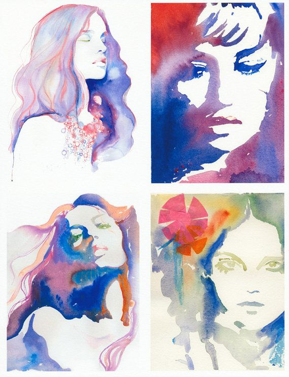 Color Theory Watercolor Portraits Art Painting Art Lessons