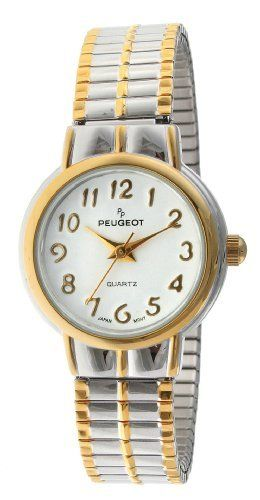 Peugeot Women S 412tt Two Tone Round Expansion Watch Peugeot 49 99 Limited Lifetime Warranty Easy To Read Expa Expansion Bracelet Watches Minerals Crystals