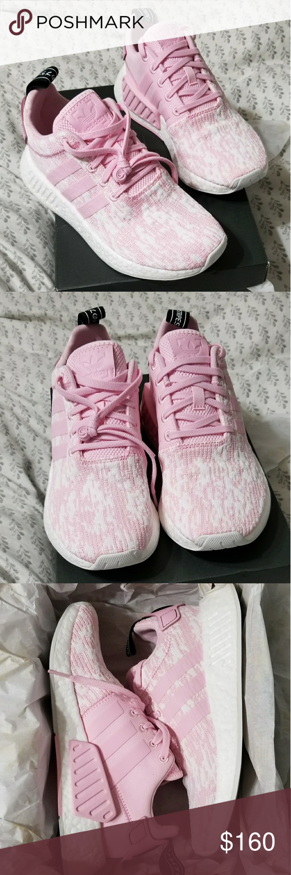 8bca8dc46 Adidas NMD R2 New in original box Adidas nmd r2 women s size 7. Wonder pink  with black pull tab.  Adidas  originals  nmd  fashion  running  shoes  pink  ...