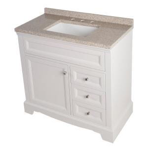 Home Decorators Collection Windsor Park 37.56 In. W Vanity In Cream With  Solid Surface Vanity