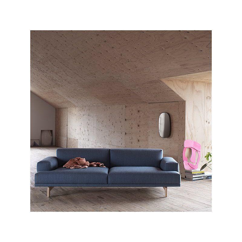 Muuto Compose Sofa 3 Seater, Oak Legs