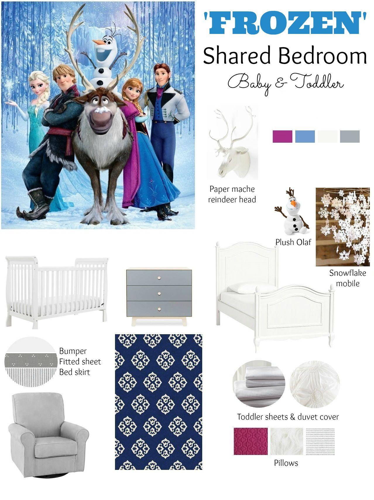 Frozen Themed Shared Kid S Bedroom
