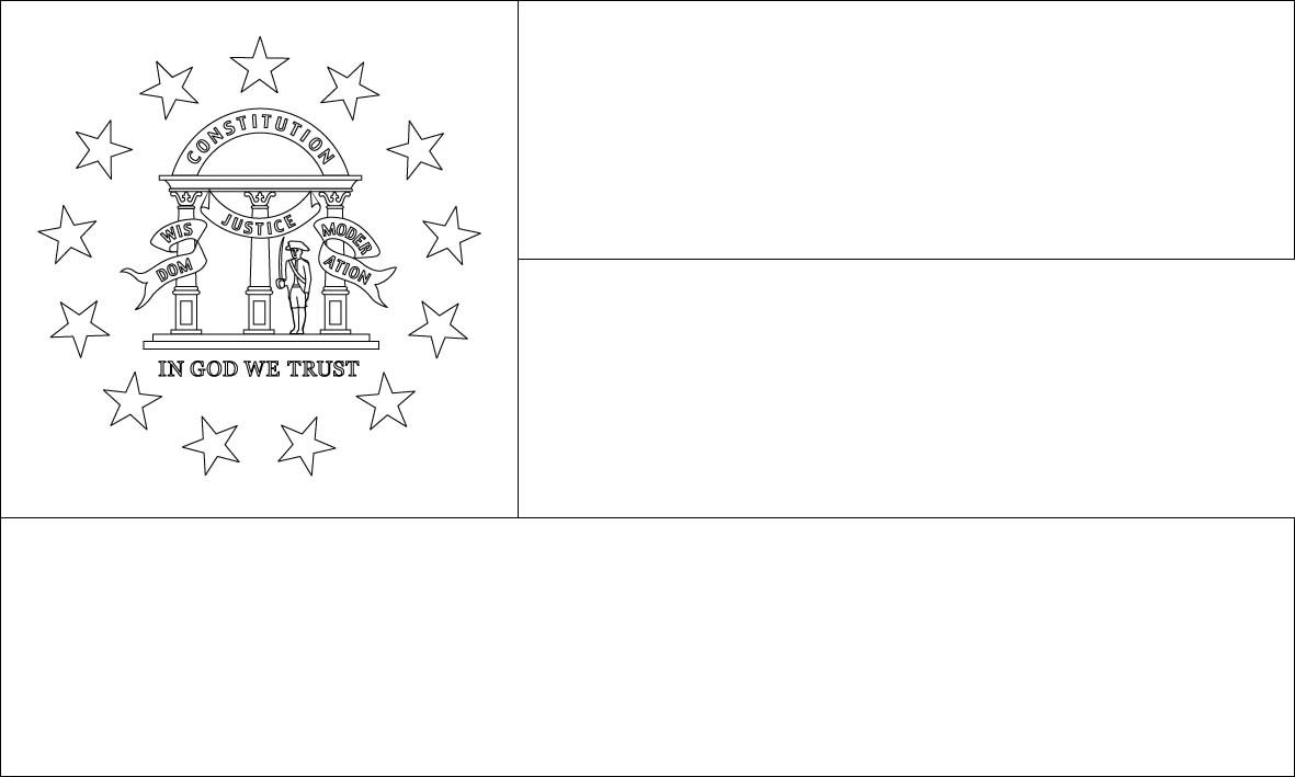 Georgia State Flag Coloring Page With Images Flag Coloring