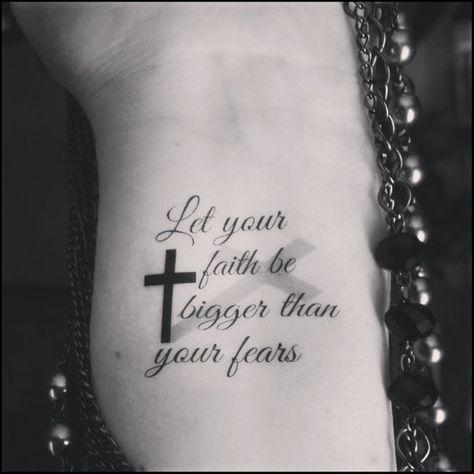 Temporary tattoo religious tattoo faith cross quote tattoo   Etsy