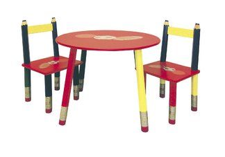 Kids Pencil Table 3 Pc Set Red Table Red Table