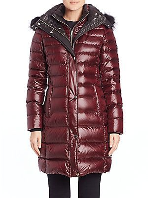 Andrew Marc Gayle Fur-Trimmed Puffer Coat