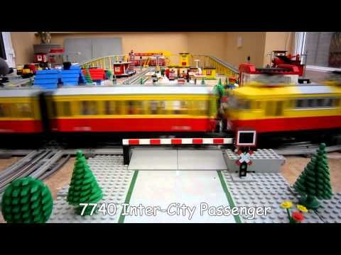 Lego Town Trains 12v Train Layout From 1980 S Youtube Lego Duplo Train Train Layouts Lego Trains