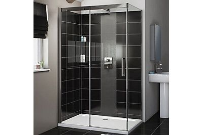 Cooke Lewis Carmony Soft Close Rectangular Shower Enclosure Lh W 1200mm D 800mm Rectangular Shower Enclosures Shower Enclosure Doors Shower Enclosure