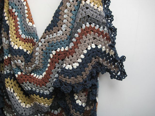 Soft Granny Ripple Afghan by fanalaine. Pattern with chart here http ...
