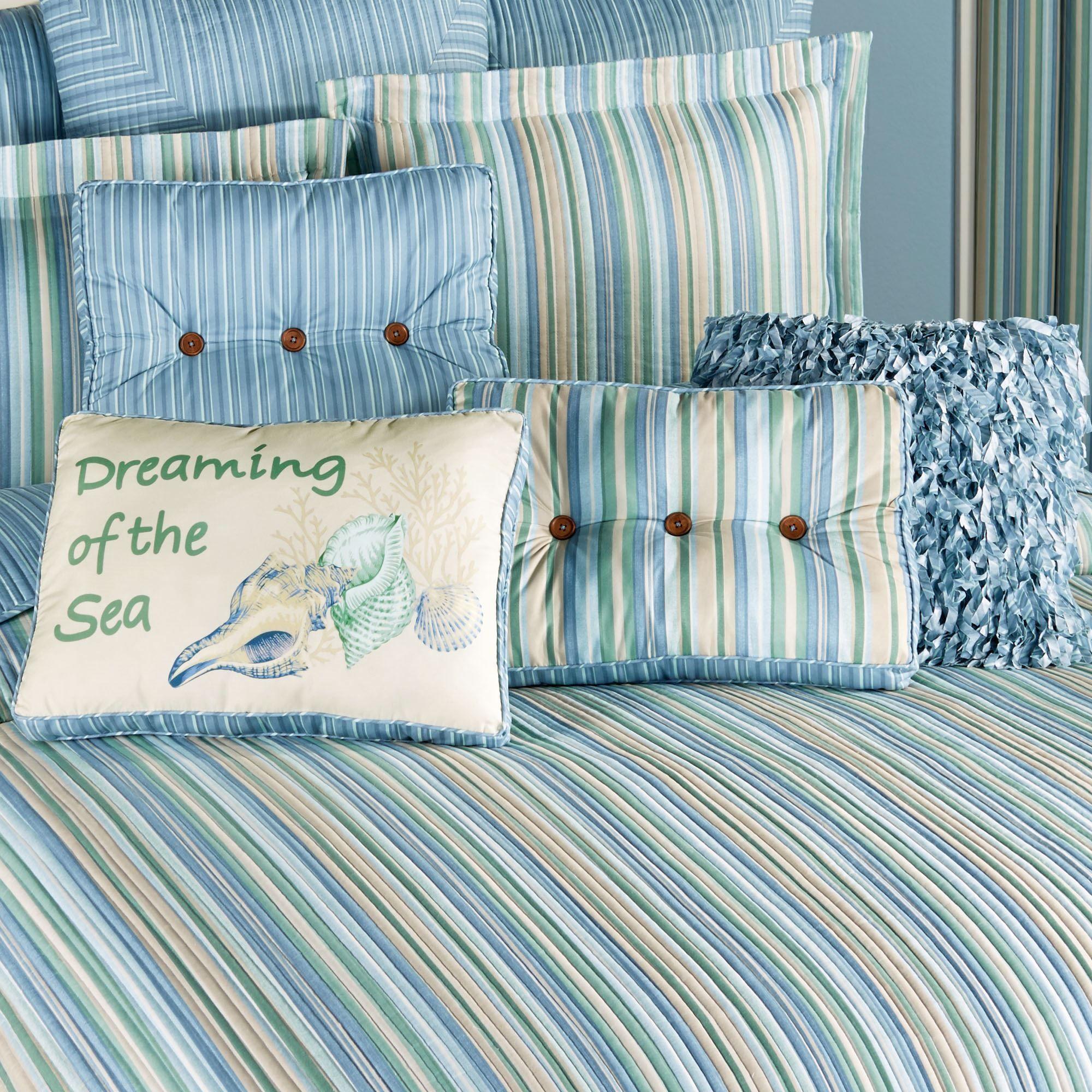 Clearwater Grande Bedspread Multi Cool Coastal bedspread