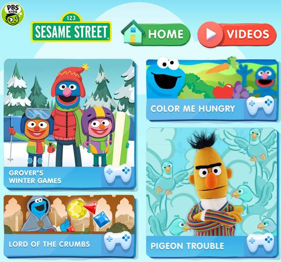A series of Sesame Street themed educational games by PBS
