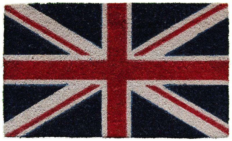 Dettagli su ZERBINO tappeto COCCO NATURALE 44x74 UK Union
