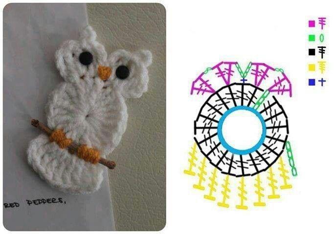 Haak Patroon Applicatie Uil Uil Owl Pinterest